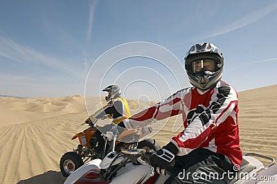Two Quad Bike Racers