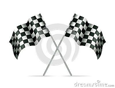 Auto Racing Rallying on Stock Images  Two Racing Flags  Image  20102174