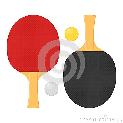 Free Two Rackets For Playing Table Tennis Or Ping-pong. Royalty Free Stock Photography - 83242757