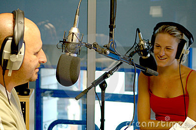 two radio presenters