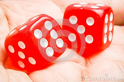 Two red dice