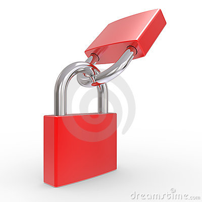 Two red lock
