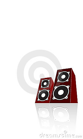 Free Two Red Loudspeakers. Vector Stock Photo - 2758910