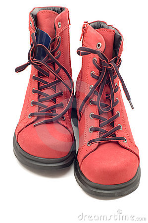 Free Two Red Shoe Royalty Free Stock Photography - 3750067