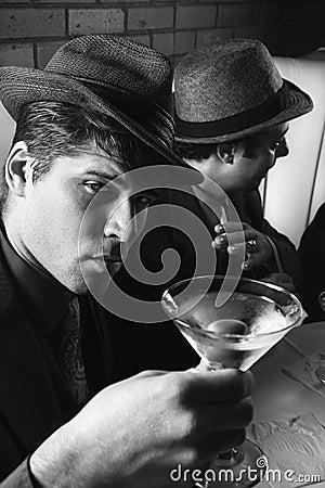 Free Two Retro Businessmen. Stock Photography - 2044592