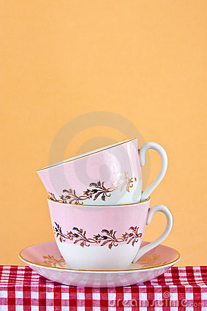 Two retro style teacups