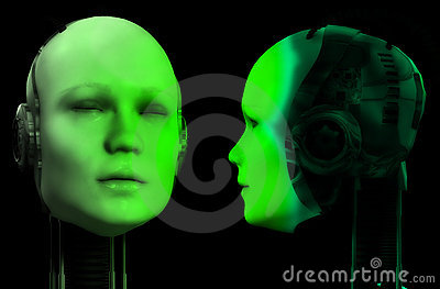 Two Robot Heads 4