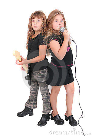 Free Two Rockstar Kids Stock Photography - 7366742