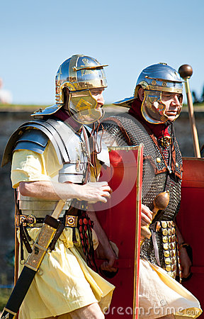 Two Roman soldiers Editorial Photography