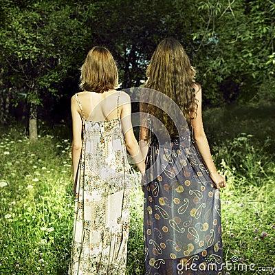 Two romantic girl