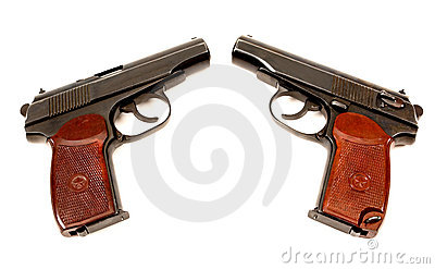 Two russian 9mm handguns