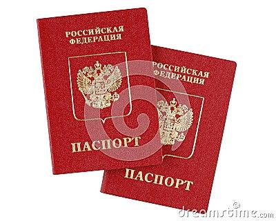 Two russian international passports