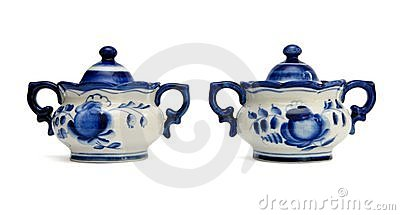 Two Russian porcelain sugar basins