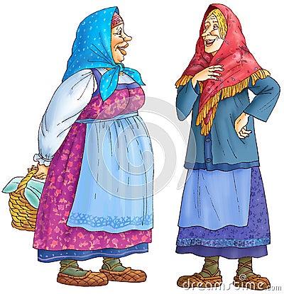 Two Russian rural women