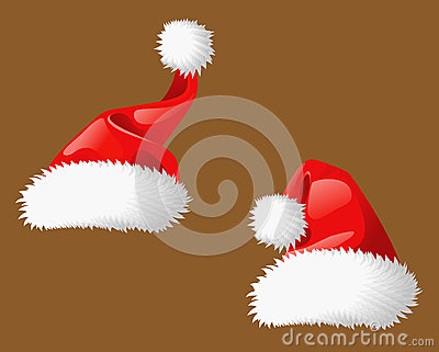 Two Santa Clous christmas hats