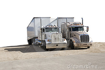 Two semi trucks
