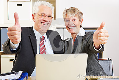Two senior business people