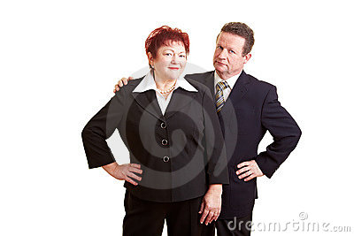 Two Senior People In Business Suits Royalty Free Stock Image - Image: 17797336