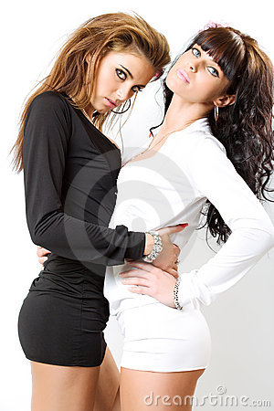 Free Two Sexy Girls Royalty Free Stock Photo - 9049715