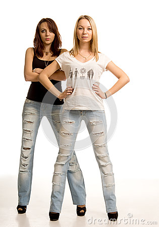Two sexy young women with attitude