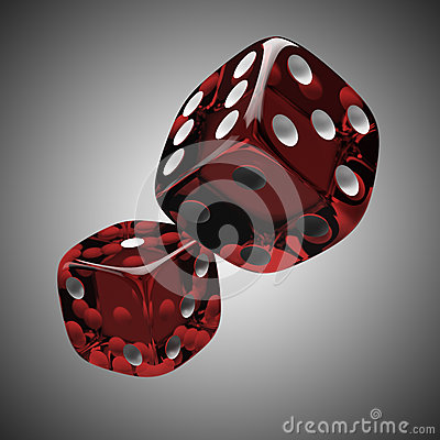 Free Two Shiny Red Dices Stock Photos - 27744413