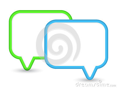 Two shiny speech bubbles