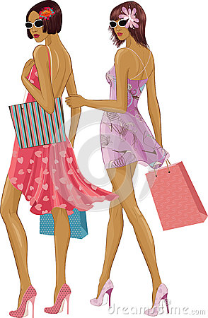 Two shopping girls
