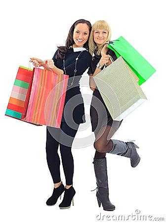 Two shopping women