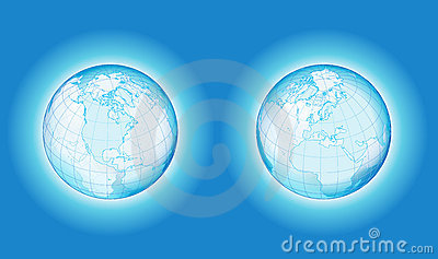 Two side transparency globe