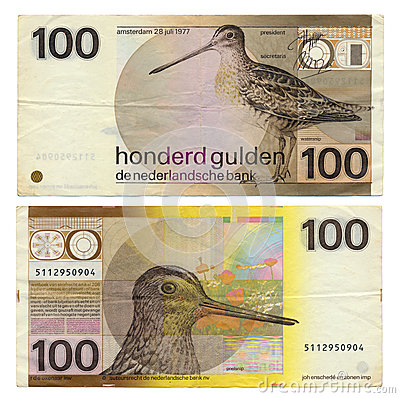 Discontinued Dutch Money - 100 Gulden