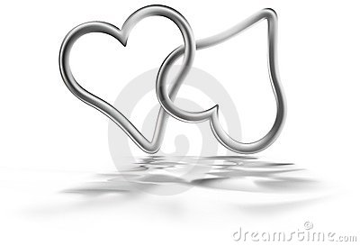 Two Silver Hearts