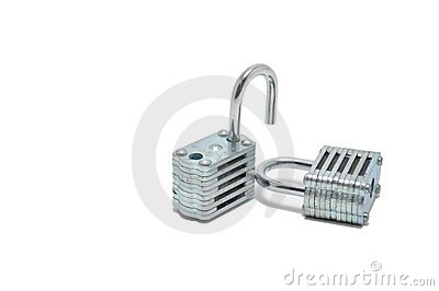 Two Silver Locks Royalty Free Stock Photography - Image: 11373937