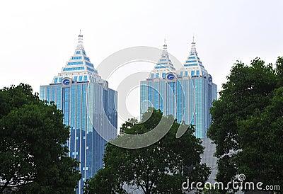 Two similar skyscrapers