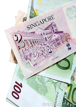Two Singapore dollars