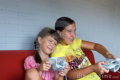 Two Sisters battle with video game