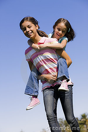 Free Two Sisters In Park Stock Photography - 11279412