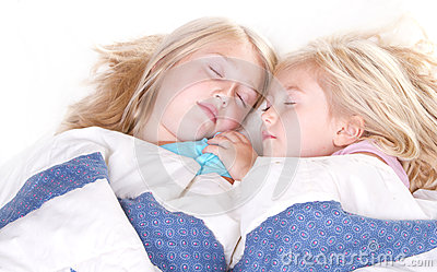 Two sisters sleeping