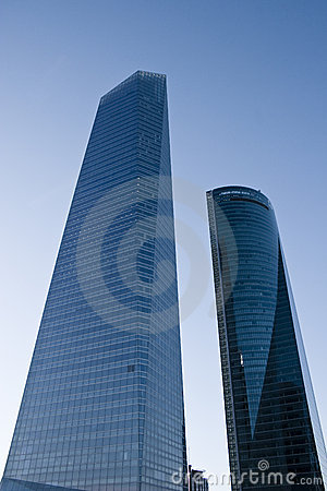 Two skyscraper at Madrid on CTBA