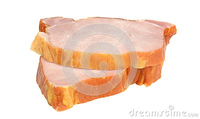 Two slices of gammon steaks