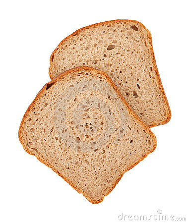 Free Two Slices Of Brown Bread Stock Images - 15623034