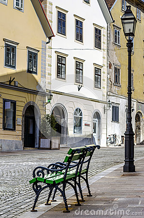 Free Two Small Benches Royalty Free Stock Photo - 30071035