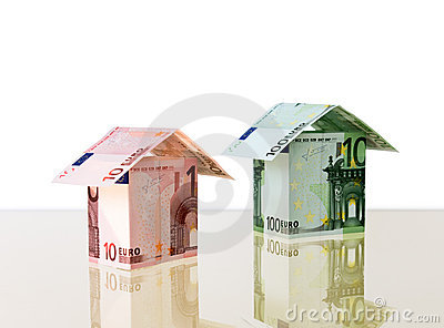 Two small houses from euro