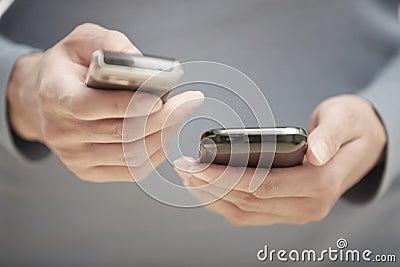 Two smartphones Stock Photo