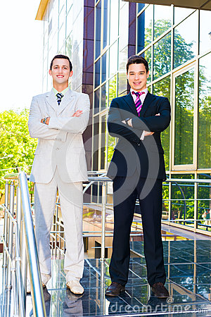 Two smiling businessmen