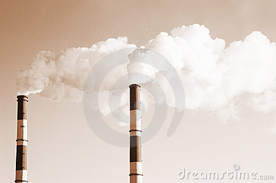 Two smoke stacks