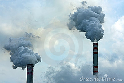 Two smoking chimneys