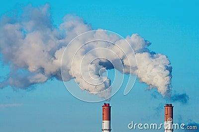 Two smoking chimneys