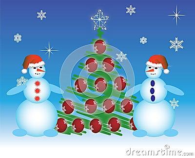 Two snowmen a