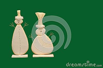 Two snowmen illustration