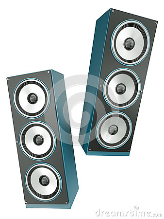 Free Two Speakers Royalty Free Stock Image - 25264176